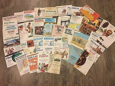 Lot of National Geographic Supplement Insert Maps 1970s 80s 90s