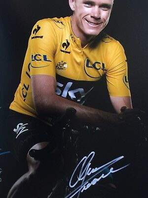 Cycling Chris Froome Original Hand Signed Photo 12x8 With COA