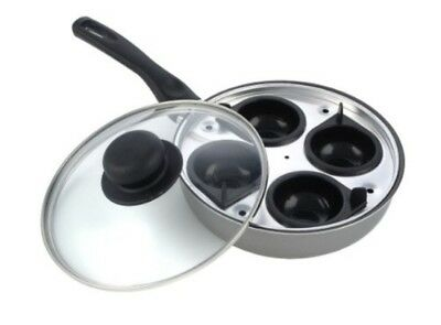 Kitchen Craft Induction 4 Cup Egg Poaching Pan Set Non Stick Poacher 20cm