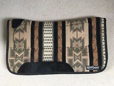 "Reinsman Tacky Too Non-Slip Navajo Design Western Saddle Pad 31"" long"