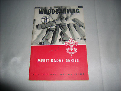 Vintage BSA Boy Scouts of America Woodcarving Merit Badge Series Book 1959
