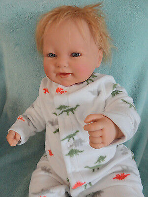 Reborn Berenguer, Happy Boy, Rooted Blonde Hair Mint baby doll