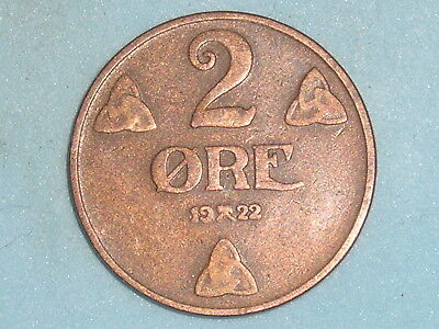 Norway / Norge 2 Ore 1922  (107