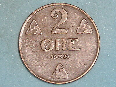 Norway / Norge 2 Ore 1922  (108