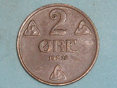 Norway / Norge 2 Ore 1922 (109