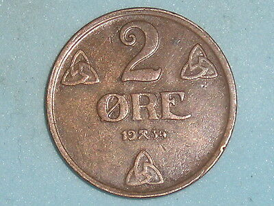 Norway / Norge 2 Ore 1934  (113