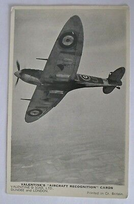 A Spitfire recognition card by Valentines