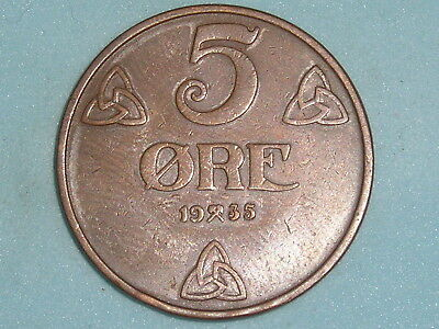 Norway / Norge 5 Ore 1935  (136