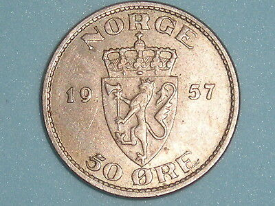 Norway / Norge 50 Ore 1957  (123
