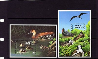 "BARBUDA , 2 x $6 BIRDS Mini Sheet""Barbuda Mail""  Mtd. MINT"