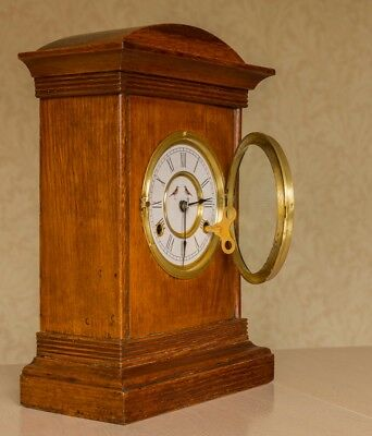 A quirky New Haven 'Thrush' clock in good working order after repairs.
