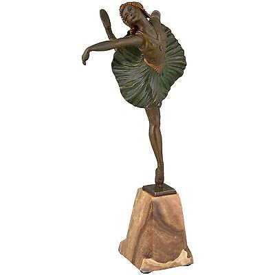 French bronze Art Deco ballet dancer by Hippolyte  Fournier, 1930