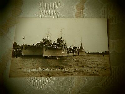 2 1934 german warship postcards of hms venetia
