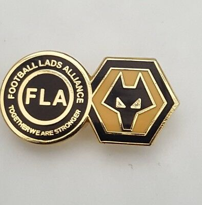 Wolverhampton Wanderers Rare Enamel Badge Football Lads Alliance    Wolves