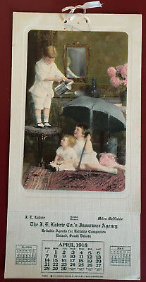 Original 1918 Advertising Calendars With Children 5 Different from Doland S.D.