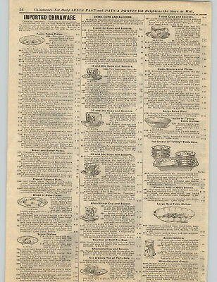 1898 PAPER AD Early Vintage American Beauty Tea Cup Saucer Bamboo Design Spoon
