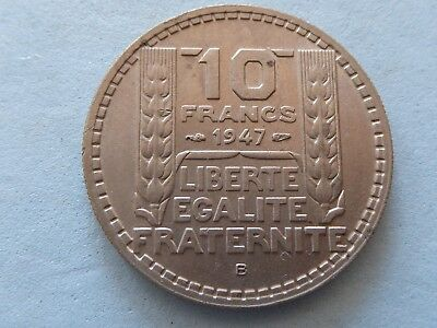 France 10 Francs 1947,b Vg.811 Better Date And Type  (238