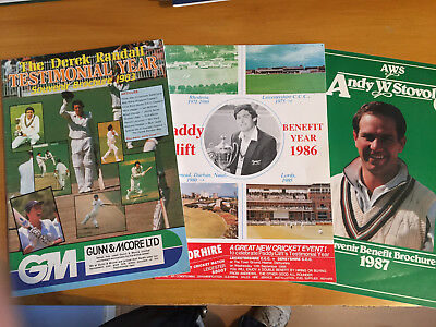 3 x Benefit Brochures 1983 D Randall 1986 P Clift 1987 A Stovold