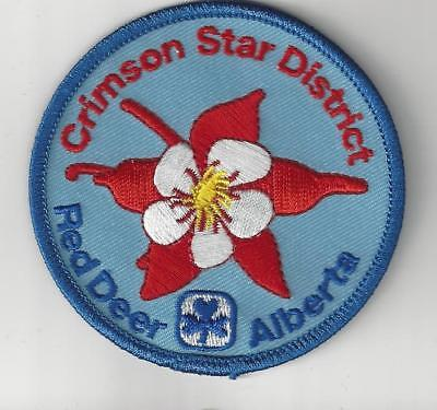 Girl Guides Canada Patch - Crimson Star District Red Deer Alberta