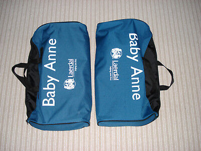 TWO Laerdal Baby Anne carrying bags