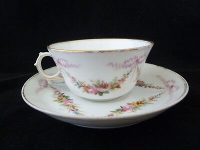 Sevres Style Porcelain Cup & Saucer - 19th century or Earlier .