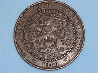 The Netherlands Two & Half Cents 1905  (268