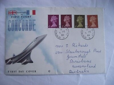 First Day Cover First Flight of Concorde Ventnor Isle of wight Cancellation 1968