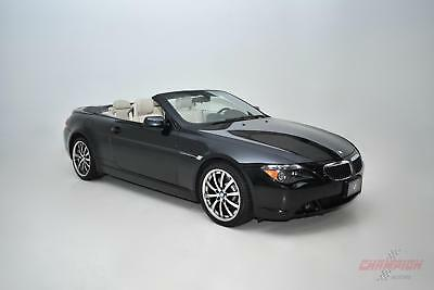 2005 BMW 6-Series 645Ci 2005 BMW 6 Series 645Ci 41,951 Miles Jet Black Convertible V8 4.4L M