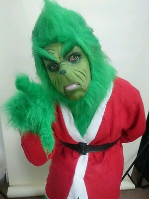 Full face grinch grinchy grouchy face prosthetic appliance . Cos play fancy dres