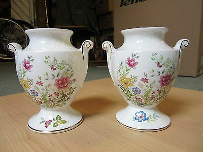 Two Hammersley Bone China Vases -Mayfield Floral