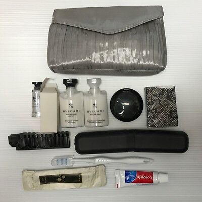 Women BVLGARI Emirates Airlines Business Class Amenity Bag Kit CLutch