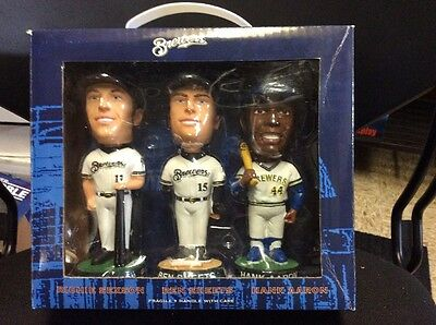 2002 Milwaukee Brewers Aaron,Sexson,Sheets, 3pack BOBBLEHEAD Set Nib
