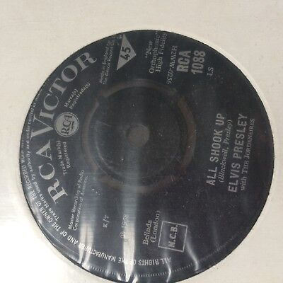 "Elvis Presley 7"" Single Heartbreak Hotel / All Shook Up   Rca Victor 1088"