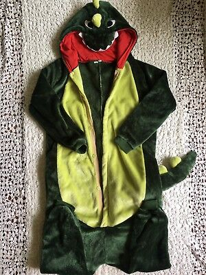 Youth Boys Godzilla Dinosaur Halloween Costume S Small Green All in One Complete