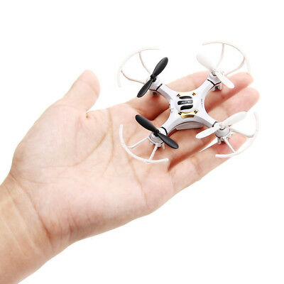Mini Explorers RC Quadcopter 4CH & 2.4GHz 6-Axis Gyro LED Drone 3D Flying White