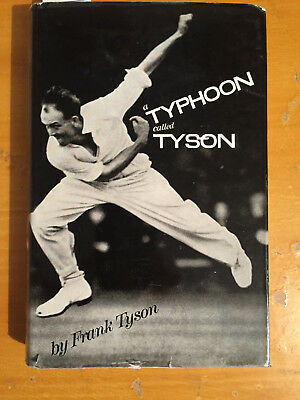 "1961 Signed by Frank Tyson "" a Typhoon called Tyson "" 1st edition with Dust Jkt"