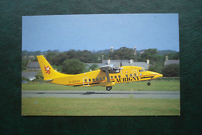 Aurigny, Jersey Airport, Postcard. Aurigny Air Services, Shorts SD-360-100.