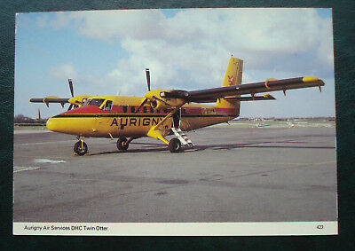Aurigny, Guernsey. Postcard, Aurigny Air Services DHC Twin Otter.