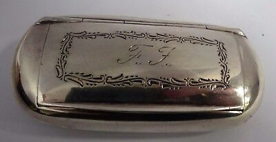 Wonderful antique solid silver snuff box, Sweden circa 1912. Great condition