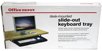Office Depot Desk-Mounted Slide-out Keyboard Tray 27.5 x 14.4 x 3.6 NEW IN BOX!