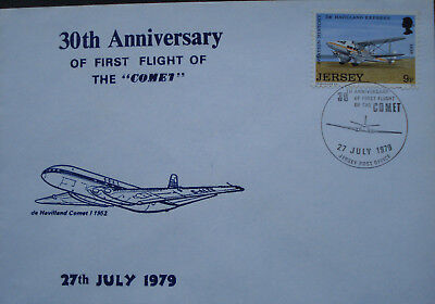 "Jersey. 30th Anniversary Of The First Flight Of The ""Comet"" 27th July 1979."