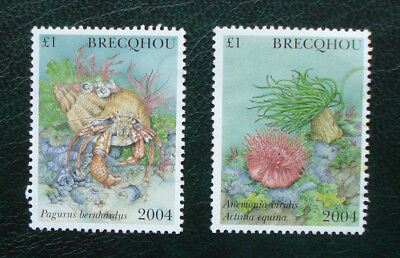 Brecqhou, Guernsey. Two Used 2004 £1 Stamps.