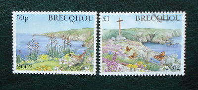 Brecqhou, Guernsey. Two 2002 Used Stamps, 1x£1 & 1x50p.