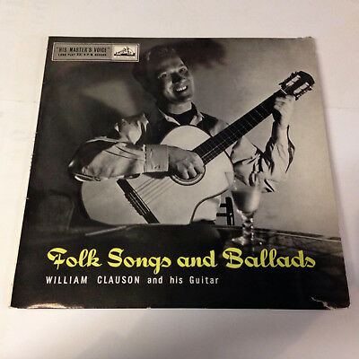 William Clauson, His Guitar and John Gregory Group. Folk songs and Ballads. Lp.