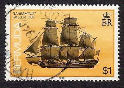 Bermuda: Ships Wrecked on Bermuda; $1 value only; fine used