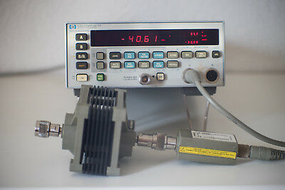 Agilent HP 438A Power Meter mit HP 8482B Messkopf 100Khz - 4,2Ghz max. 25W
