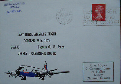 Intra Airways Limited, Jersey. Last Flight Cover.