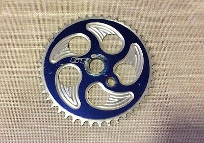 BMX GT sprocket Chainring 44T Very Good Used Blue