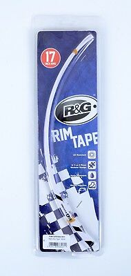 R & G Wheel Stripes - 16-Piece Modular Motorcycle Rim Tape - White