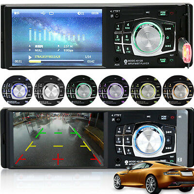 1 Din HD Screen Stereo Car Radio 4.1 inch Bluetooth MP5 Player & FM Aux W/Remote